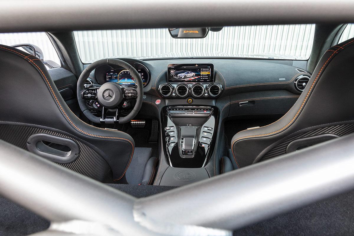 Intérieur de la Mercedes AMG GT Black Series