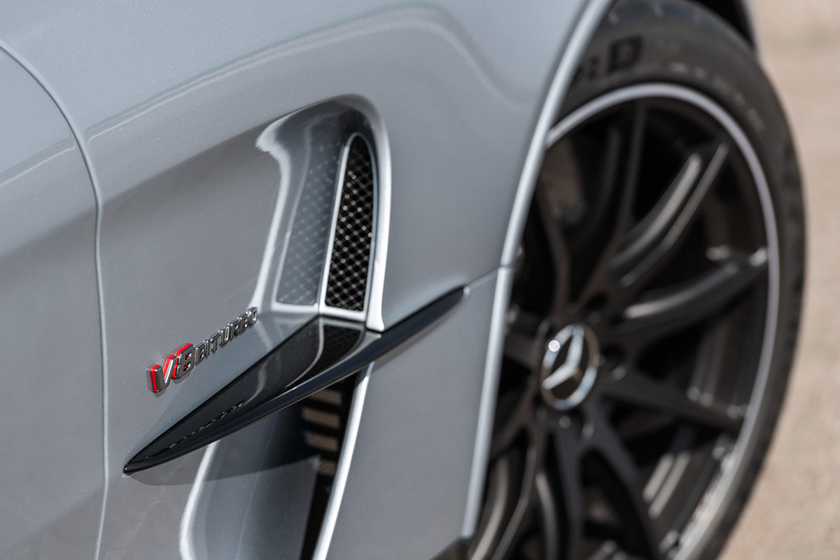 Entrées d'air de la Mercedes AMG GT Black Series