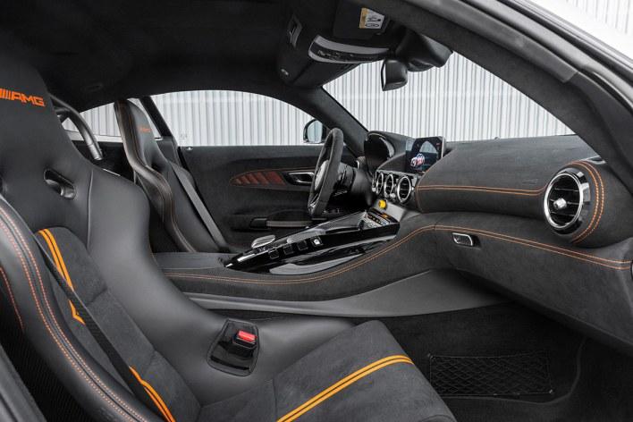 Sièges de la Mercedes AMG GT Black Series