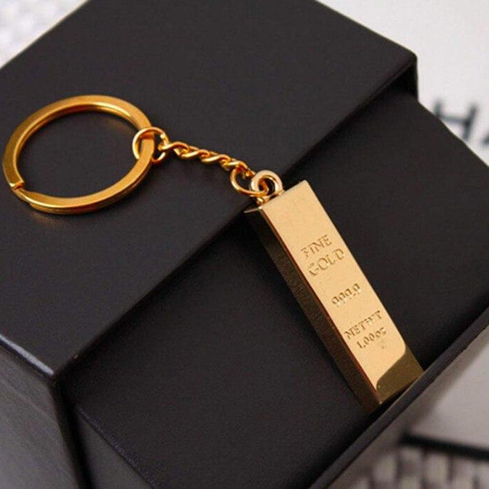 Porte-clé en or