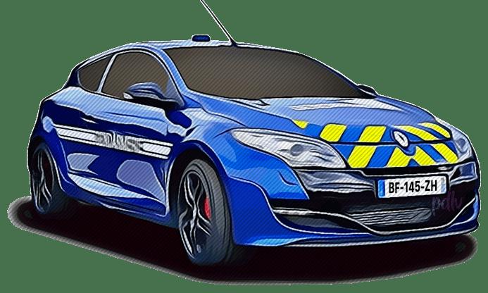 BF-145-ZH Renault Megane RS gendarmerie