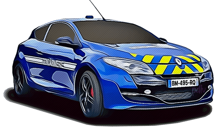BM-495-RQ Renault Megane RS gendarmerie