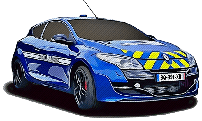 BQ-391-XR Renault Megane RS gendarmerie