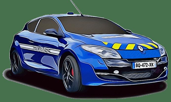 BQ-472-XK Renault Megane RS gendarmerie