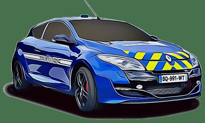BQ-991-WT Renault Megane RS gendarmerie
