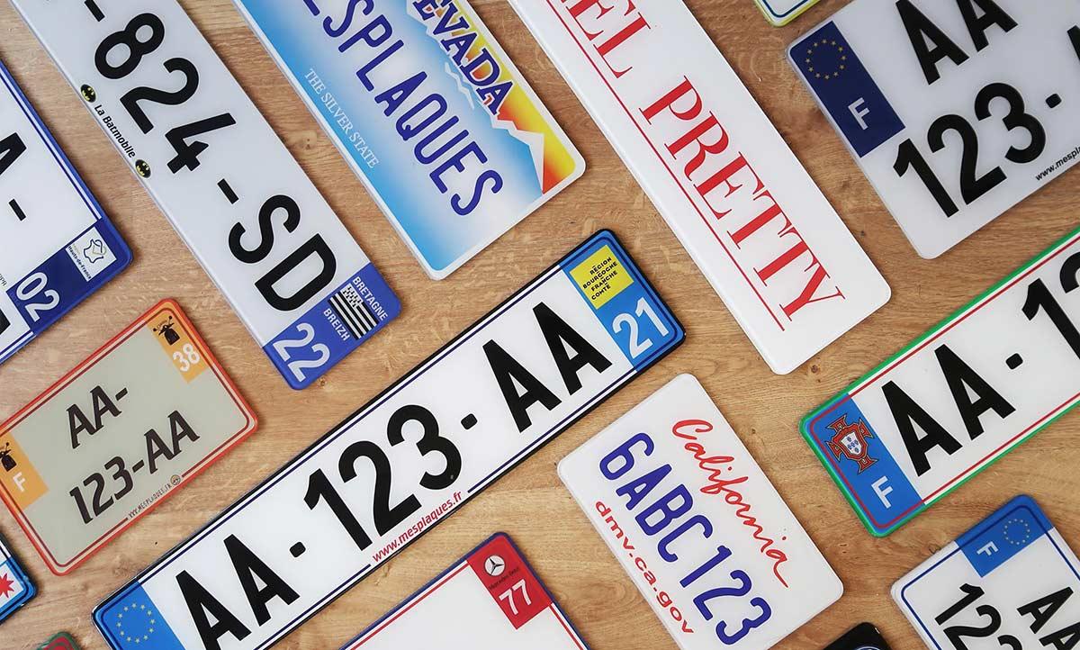 Belles plaques immatriculation