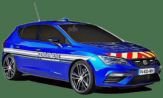 FV-633-WH Seat Leon Cupra gendarmerie