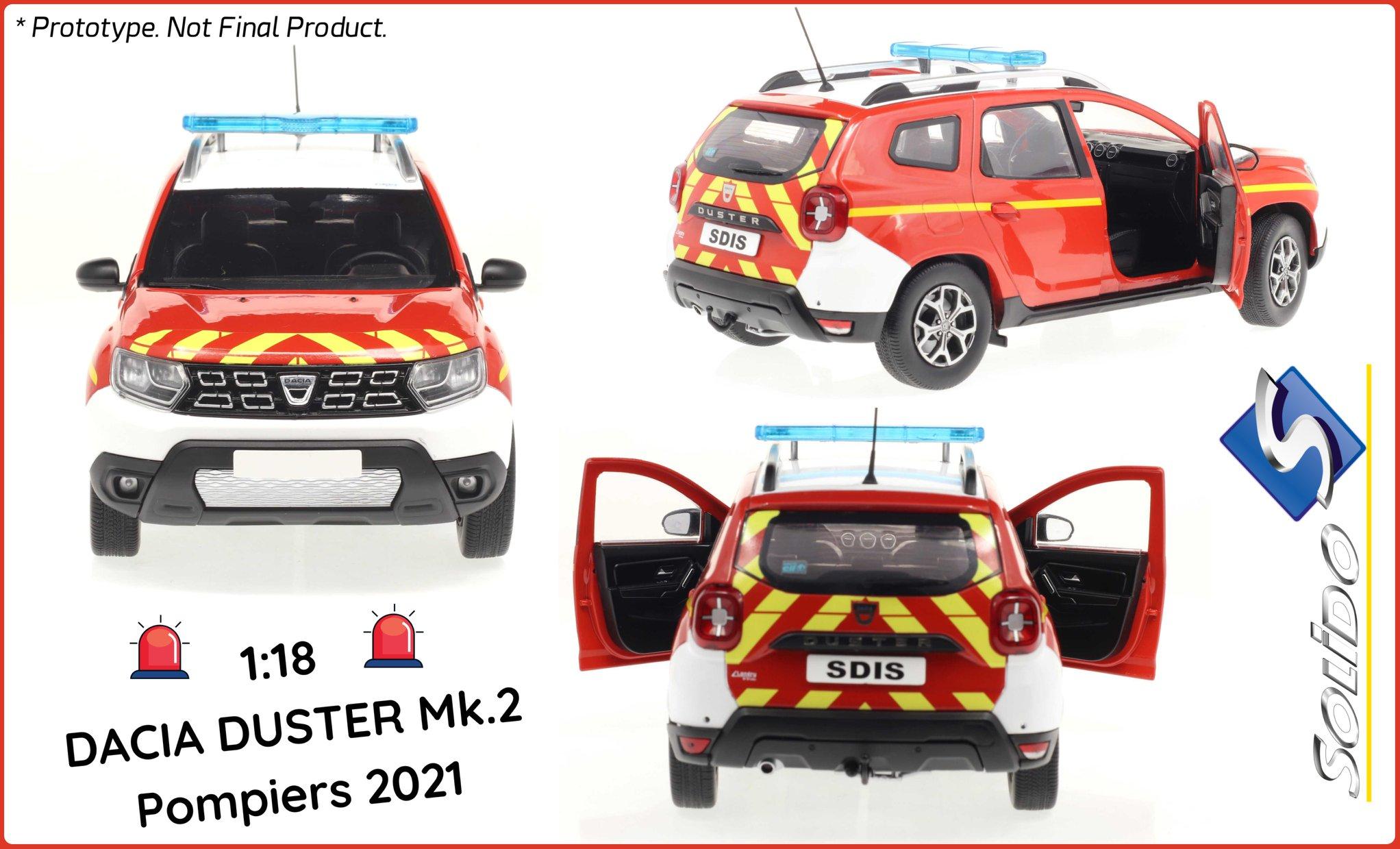 S1804605 Dacia Duster Solido pompiers