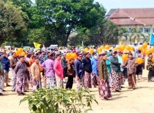 Peserta Pawai Pengurus Daerah Muhammadiyah Gunungkidul