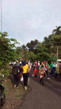 Situasi Jalan Sehat di Kecamatan Nglipar