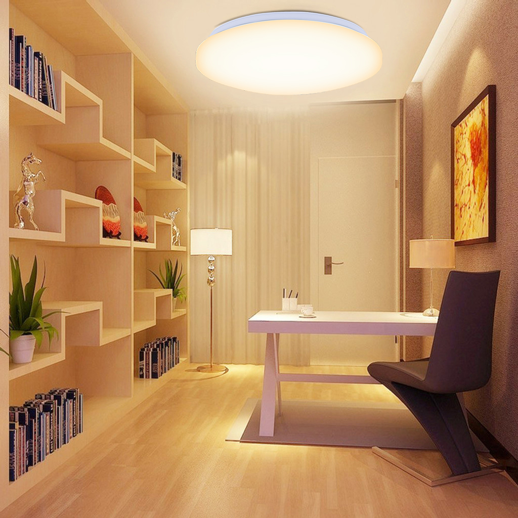 led ceiling light living room coffee table modern bright lamp flush mount acrylic details about warm white
