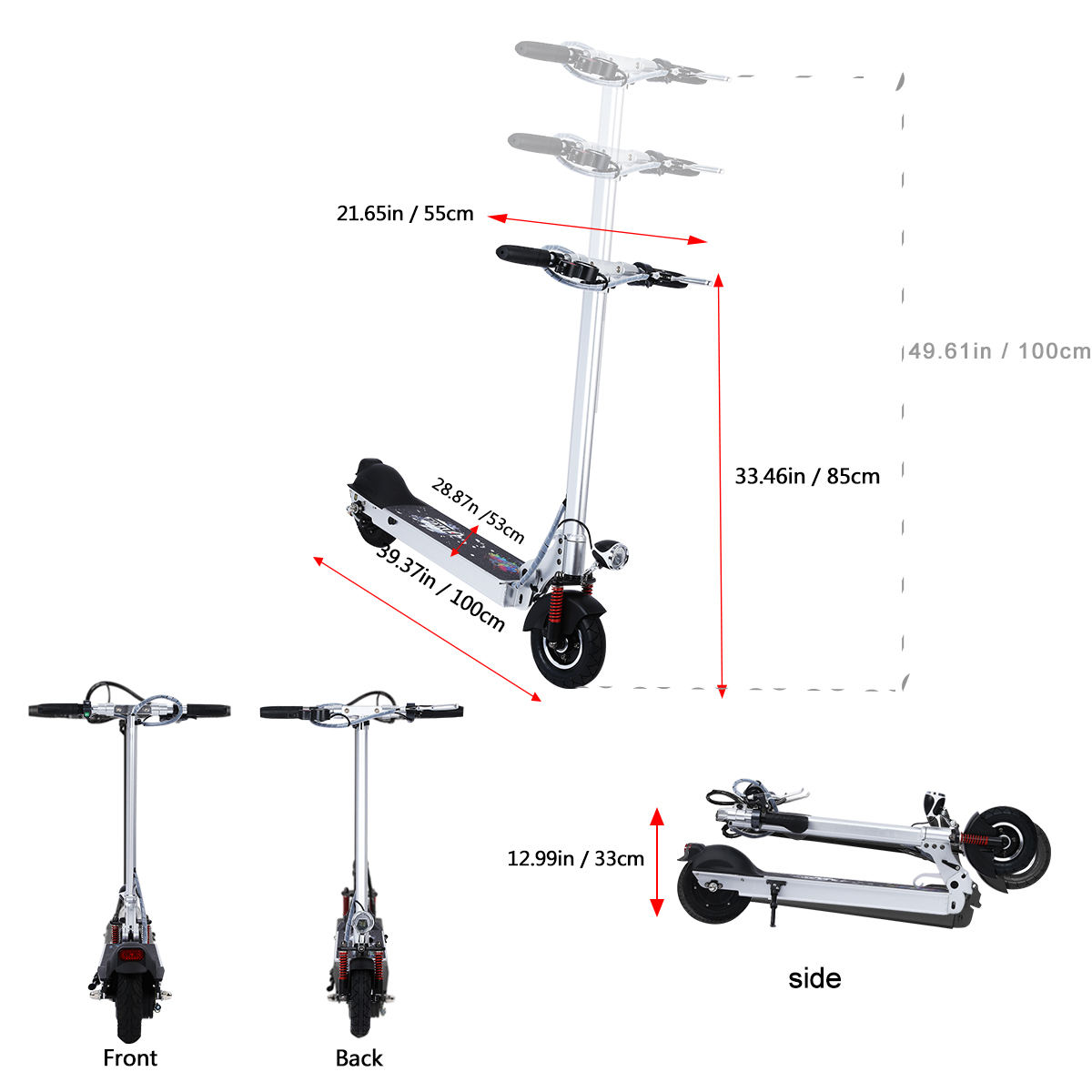 30km H Led Licht Elekro Scooter Roller E Scooter