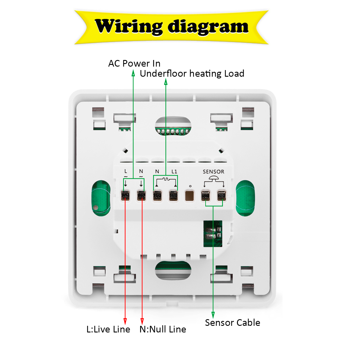 hight resolution of home ldc digital temperature controller heating thermostat 3m extra sensor cable ebay