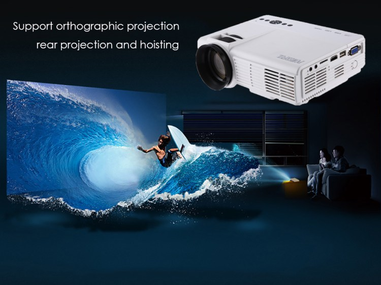 POWERFUL Q5 Home Theater 1000 Lumens 480 X 320 Pixels Multimedia HD LCD Projector White price on jumia Nigeria via specspricereview.com