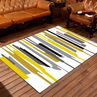 Living Room Mat Simple Striped Pattern Comfortable ...