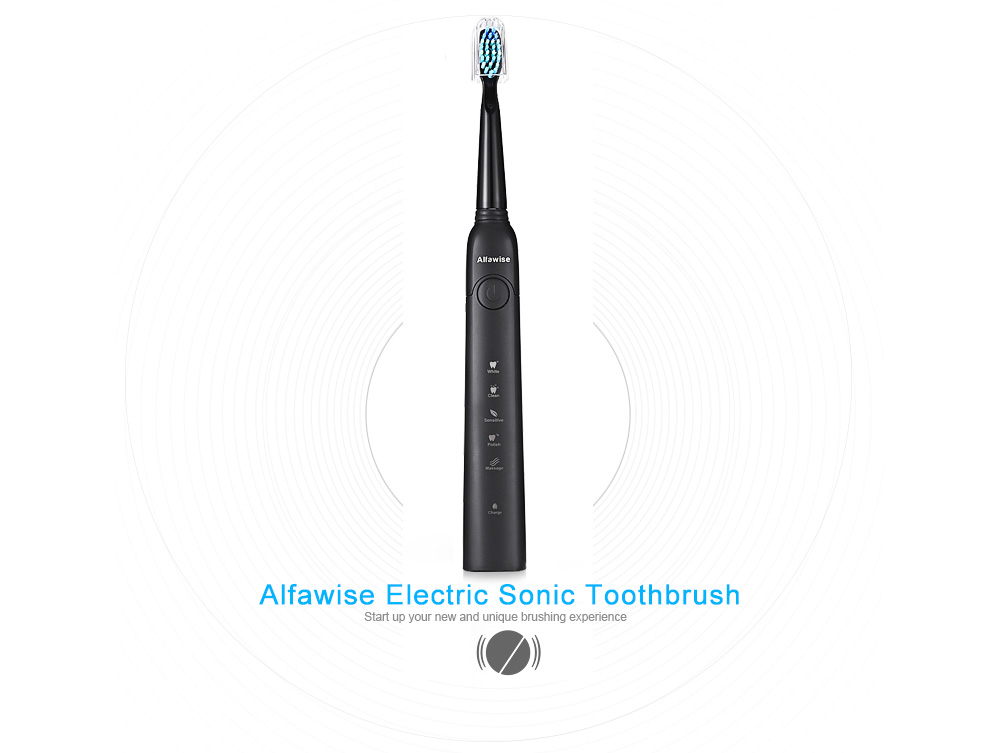 Waterproof Sonic Electric Toothbrush Smart Timer 5Mode 3