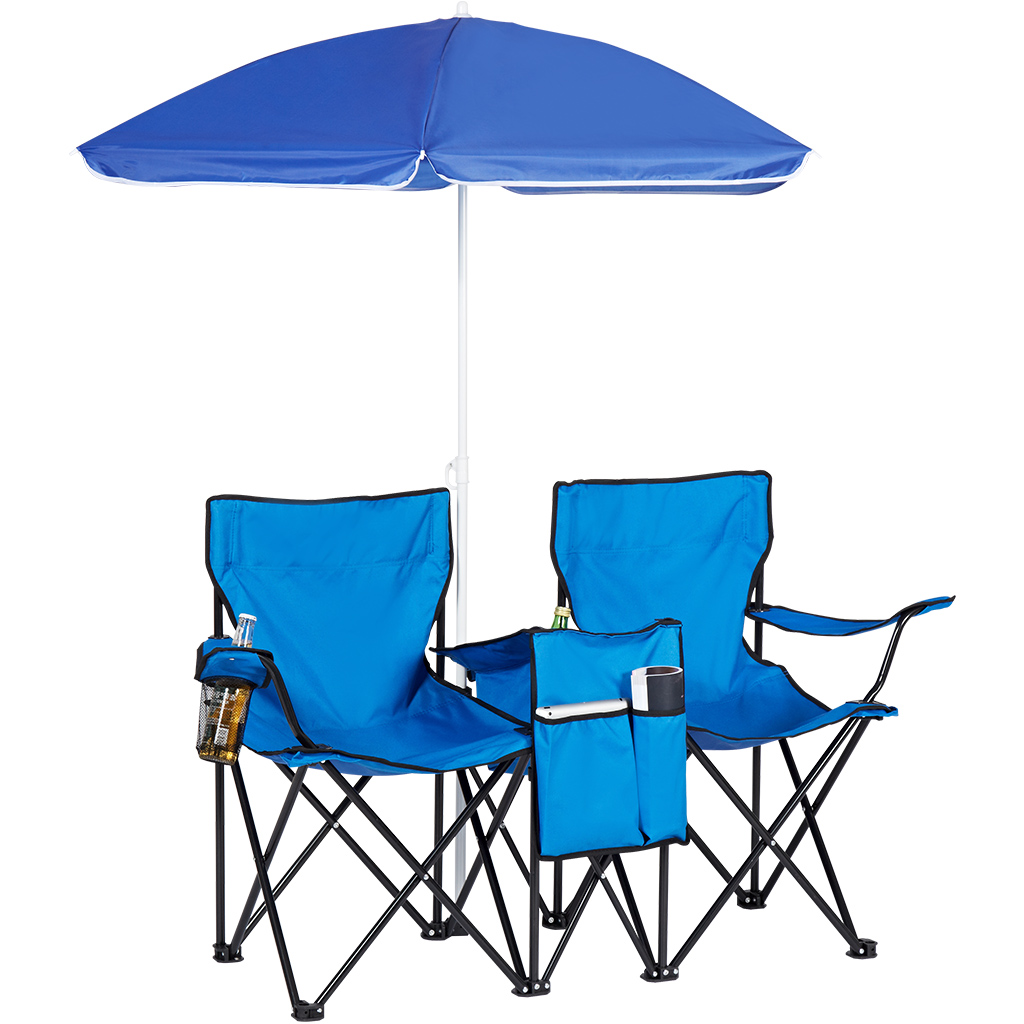 Double Folding Camping Chair Portable Folding Single Double Outdoor Camping Fishing