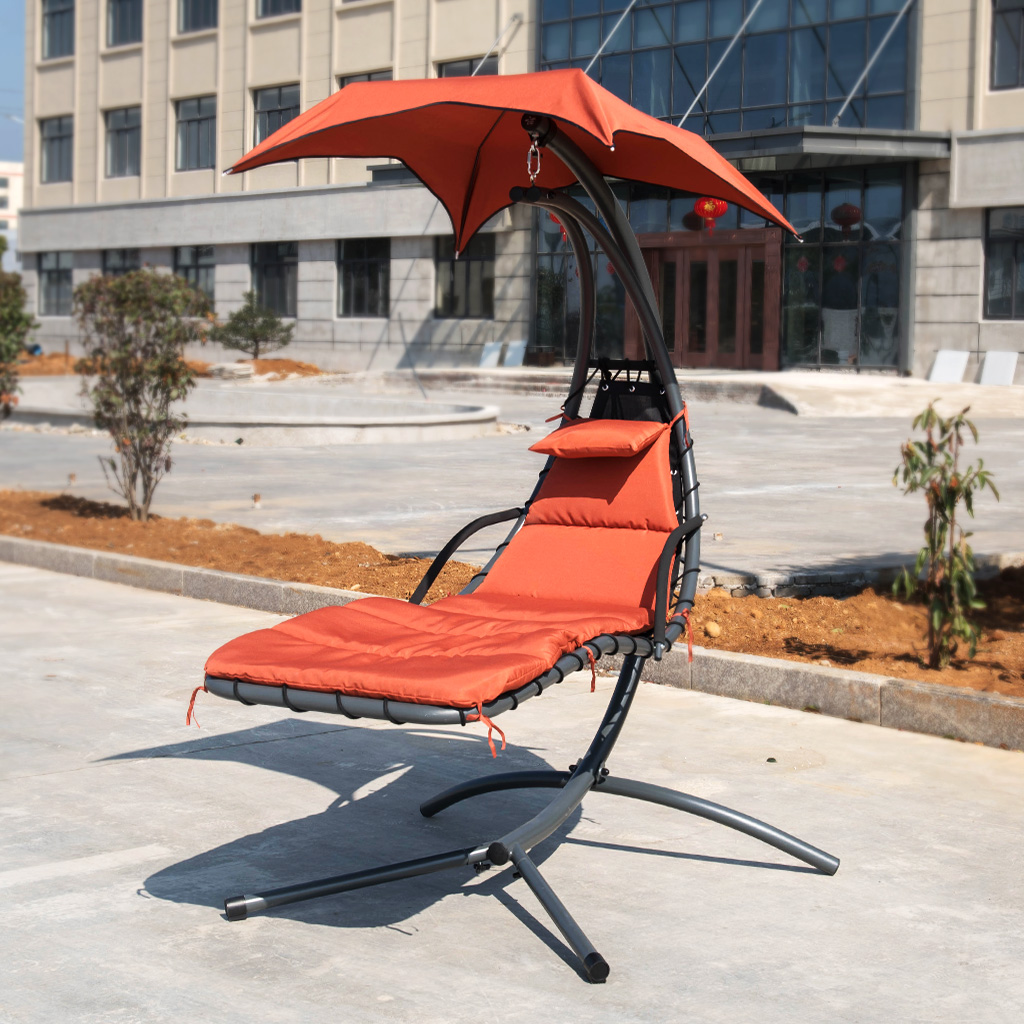 Indoor Hanging Chair With Stand Details About Hanging Chaise Lounge Chair Outdoor Indoor Hammock Swing Chair With Stand Canopy