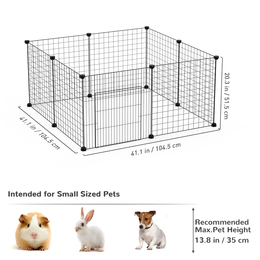 Foldable Metal Pet Exercise Pen Wire Fence Cage Barrier