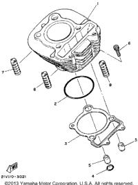 1985 Yamaha MOTO-4 (YFM200N) OEM Parts, Babbitts Yamaha