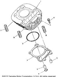 1986 Yamaha MOTO-4 (YFM225S) OEM Parts, Babbitts Yamaha
