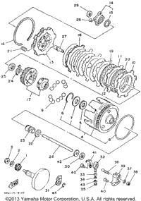1986 Yamaha BADGER (YFM80S) OEM Parts, Ronnie's Mail Order