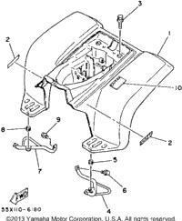 1986 Yamaha BADGER (YFM80S) OEM Parts, Babbitts Online