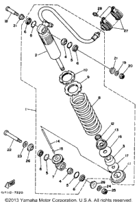 1987 Yamaha WARRIOR (YFM350XT) OEM Parts, Babbitts Yamaha