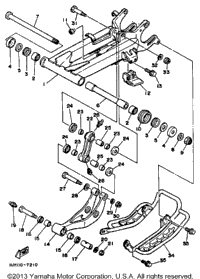 1987 Yamaha WARRIOR (YFM350XT) Front Suspension Wheel