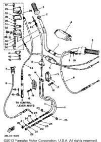 1988 Yamaha TERRA PRO (YFP350U) OEM Parts, Babbitts Yamaha