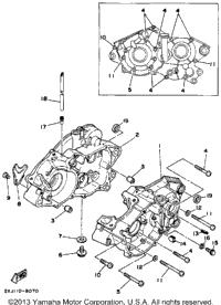 1988 Yamaha BLASTER (YFS200U) OEM Parts, Ron Ayers