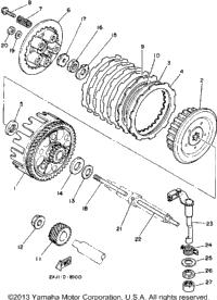1989 Yamaha BLASTER (YFS200W) Rear Brake Caliper