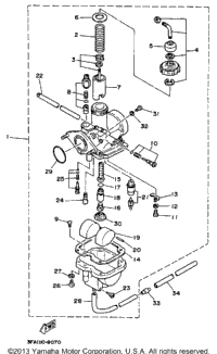 1991 Yamaha BREEZE (YFA1B) OEM Parts, PartsPitstop.com