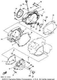 1992 Yamaha TIMBERWOLF 2WD (YFB250D_MN) OEM Parts