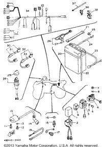 1993 Yamaha TIMBERWOLF 2WD (YFB250E) OEM Parts, Babbitts