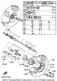 1995 Yamaha BIG BEAR 4WD (YFM350FWG) OEM Parts, Babbitts