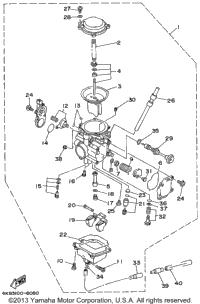 1999 Yamaha WOLVERINE 4WD (YFM350FXL) Carburetor