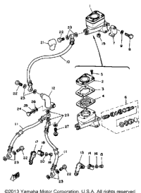 1980 Yamaha XS1100SG OEM Parts, Babbitts Yamaha Partshouse