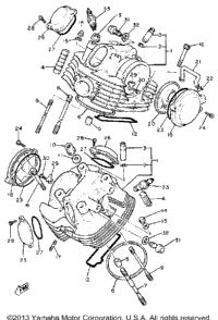 1981 Yamaha VIRAGO 750 (XV750H) OEM Parts, Babbitts Yamaha