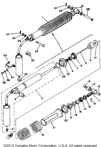1981 Yamaha YZ125H OEM Parts, Babbitts Online