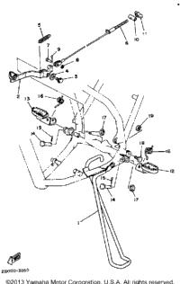 1983 Yamaha YZ490 (YZ490K) OEM Parts, Babbitts Online