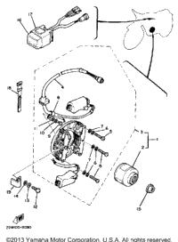 1983 Yamaha YZ80 (YZ80K) OEM Parts, Babbitts Yamaha Partshouse