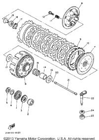 1988 Yamaha YZ250U OEM Parts, Babbitts Yamaha Partshouse