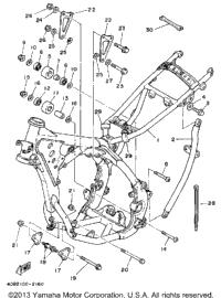 1992 Yamaha YZ125D1 OEM Parts, Ron Ayers