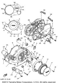 1995 Yamaha VIRAGO 1100 (XV1100G) OEM Parts, Cycle Parts