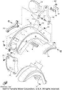 2001 Yamaha ROAD STAR SILVERADO (XV1600ATNC) OEM Parts