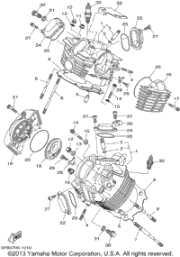 2002 Yamaha V-STAR 1100 CLASSIC (XVS1100AP) OEM Parts