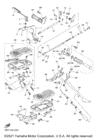 2003 Yamaha V-STAR CLASSIC (XVS650AR) OEM Parts, Babbitts