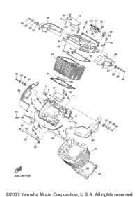 2007 Yamaha V STAR 1300 TOURER (XVS13CTW) OEM Parts
