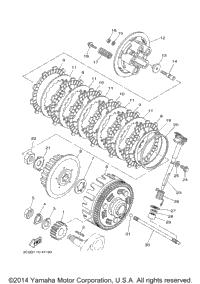 2015 Yamaha XT250 (XT250F) OEM Parts, Babbitts Kawasaki